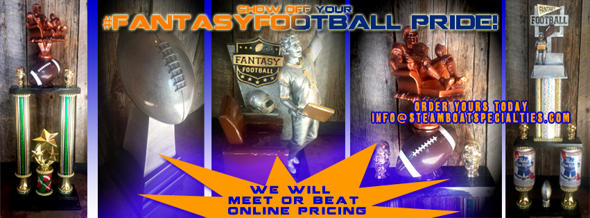 Steamboat Specialties Fantasy FootBall Trophies and Awards