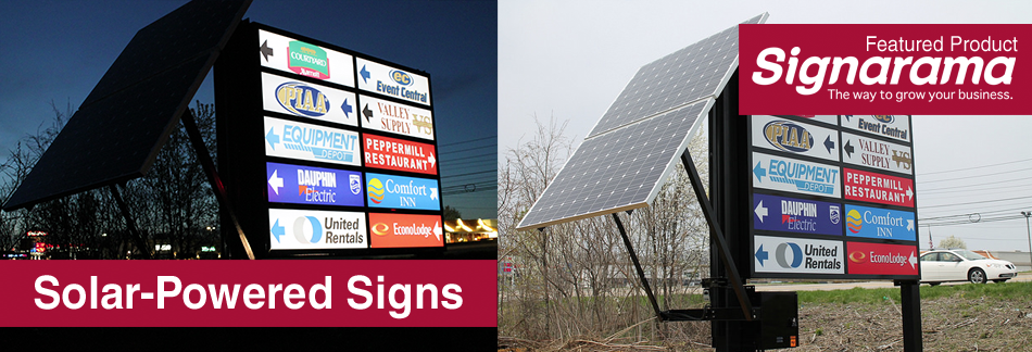Solar Powered Signs - Featured Product