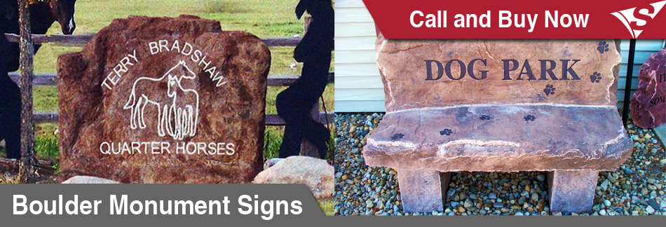Boulder Monuments - Personalized Concrete Signs by Signarama - Call and Buy Now