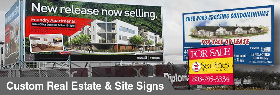 Real Estate and Site Signs - Call and Buy
