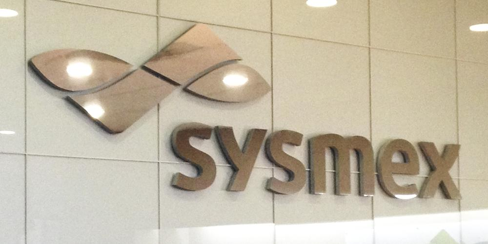 Sysmex Dimensional Wall Sign