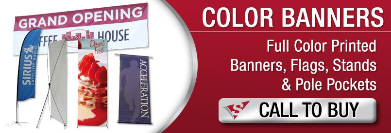 Color Banners - Full Color Printed Banners Flags Stands  Pole Pockets