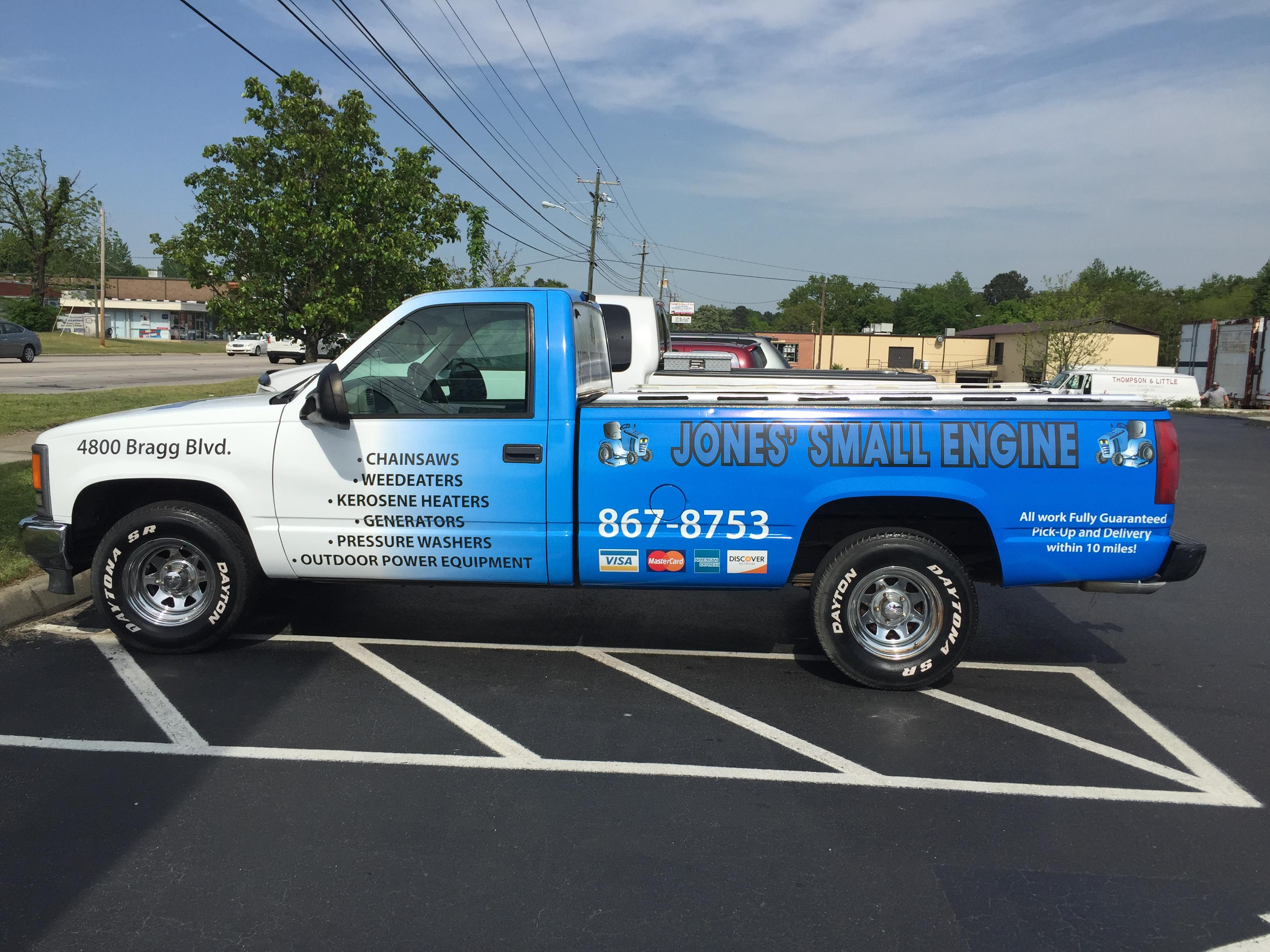 Jones Small Engine Truck Wrap