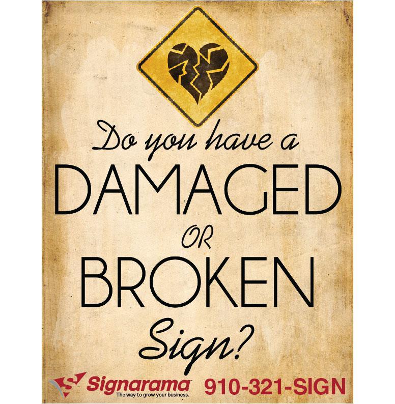 Broken signs