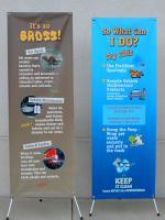BioD Banners in Aluminum X Stands
