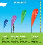 Teardrop Flag Sizes