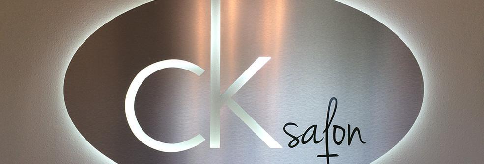 CK Salon Lighted Sign