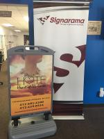 Signarama Monroeville_Sidewalk Sign with Vinyl Graphics