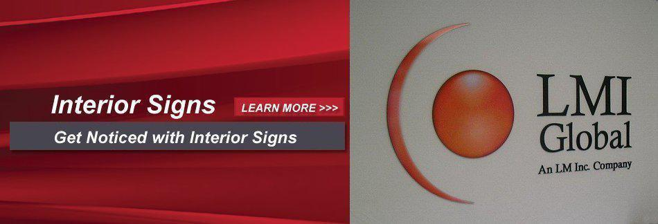 Interior Signs - Get Noticed with Interior Signs