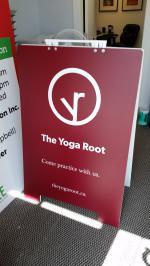 32x48 PVC sandwich board for yoga studio