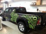 Partial wrap on pickup truck
