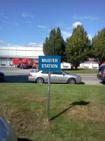 Muster station sign