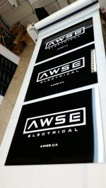 Site sign - ACM high gloss with vinyl lettering