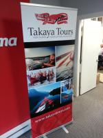 Rollup banner for a local canoe touring company