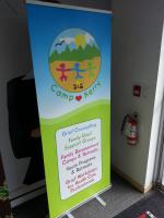 Rollup banner for a local charity
