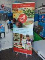 Rollup banner for a local kitchen