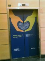 Elevator wrap for Vancouver Coastal Health
