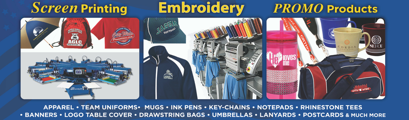 Small business promotional imprinted items