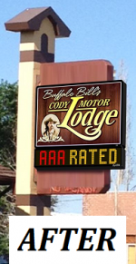 Buffalo Bill Cody Motor Lodge - Illuminated Cabinet  & Tri Color LED Electronic Message Center - After.png