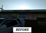 Lil Greeneys - Outdoor Painted Panel Sign - BEFORE.png