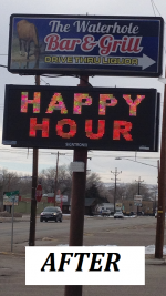 WATERHOLE BAR AND GRILL - Outdoor Illuminated Cabinet Sign & Full Color LED Electronic Message Center - AFTER.png