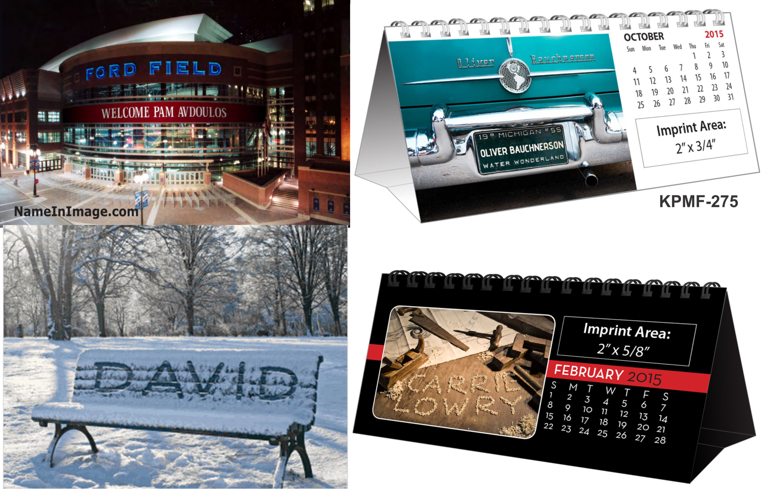 Name-In-Image (sm) DESK Calendars