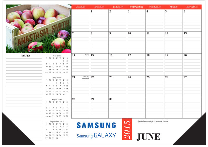 Name-In-Image (sm) DESK PAD Calendar