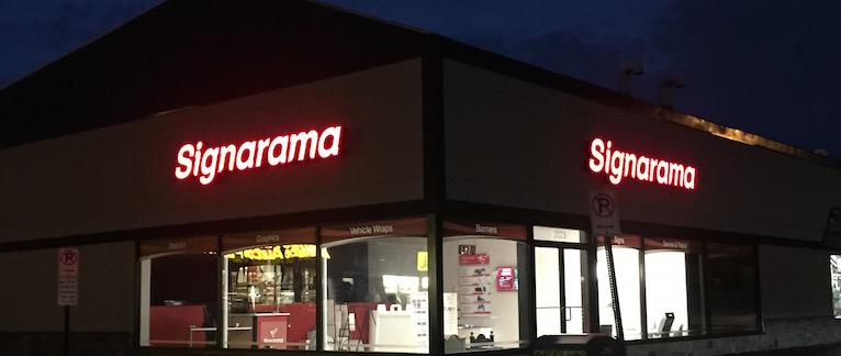 Signarama Store Front - Channel Letters