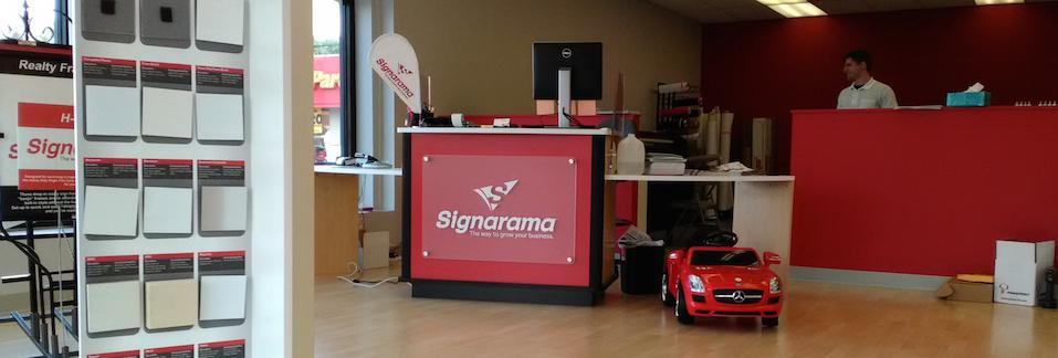 Signarama Front Desk - Dimensional Letters
